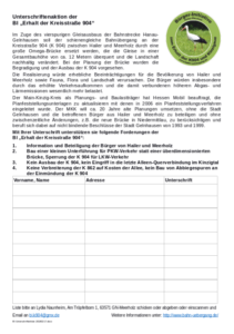 Unterschriftenliste anzeigen